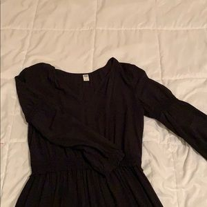Old Navy Black Long Sleeve Dress